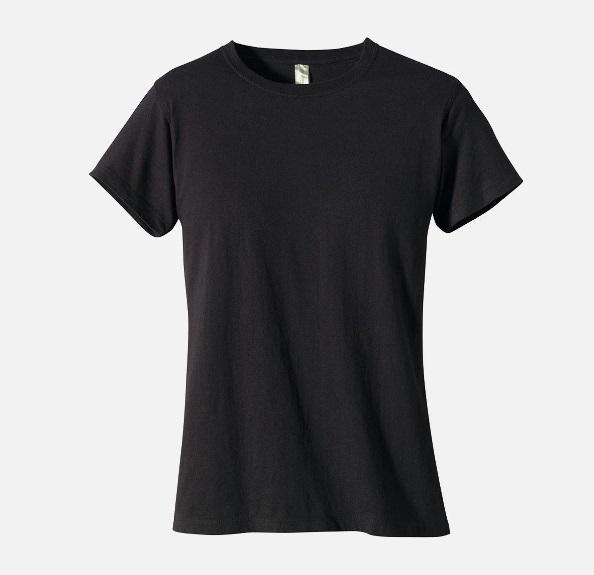 Pure Black Cotton women's Tshirt of GZ